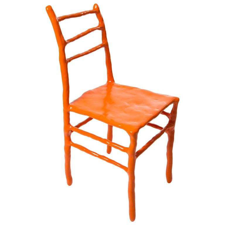 Maarten Baas Clay Chair Limited Edition Basel Chair 2007 Orange For Sale