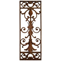 Late 19th Century Cast Iron French Door Guard