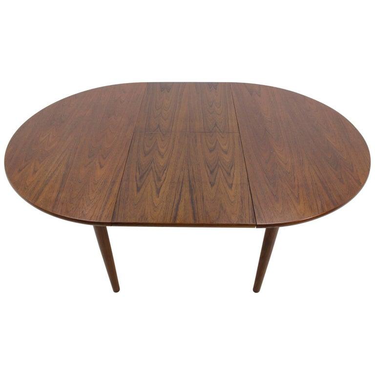 1960 Danish Teak Round Extendable Table