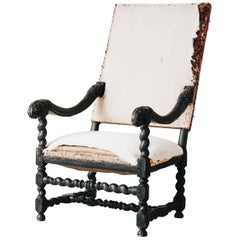 18th Century Swedish Baroque Armchair