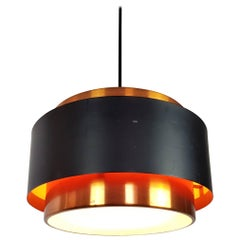 Copper Jo Hammerborg Classic Saturn Pendant for Fog & Mørup Denmark, 1960s