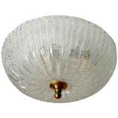 Barovier e Toso Style Glass Flush Mount Light