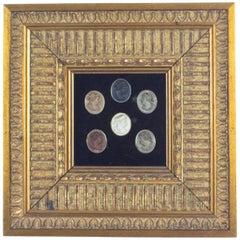Antique Framed Set of Grand Tour Cameo Plaques, 19th Century