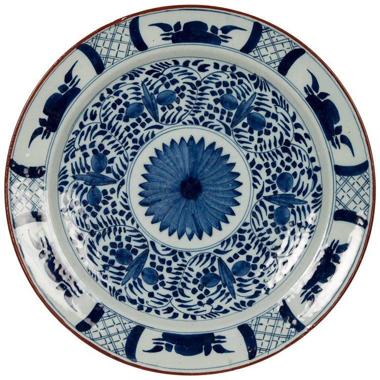 Blue and White Dutch Delft Charger
