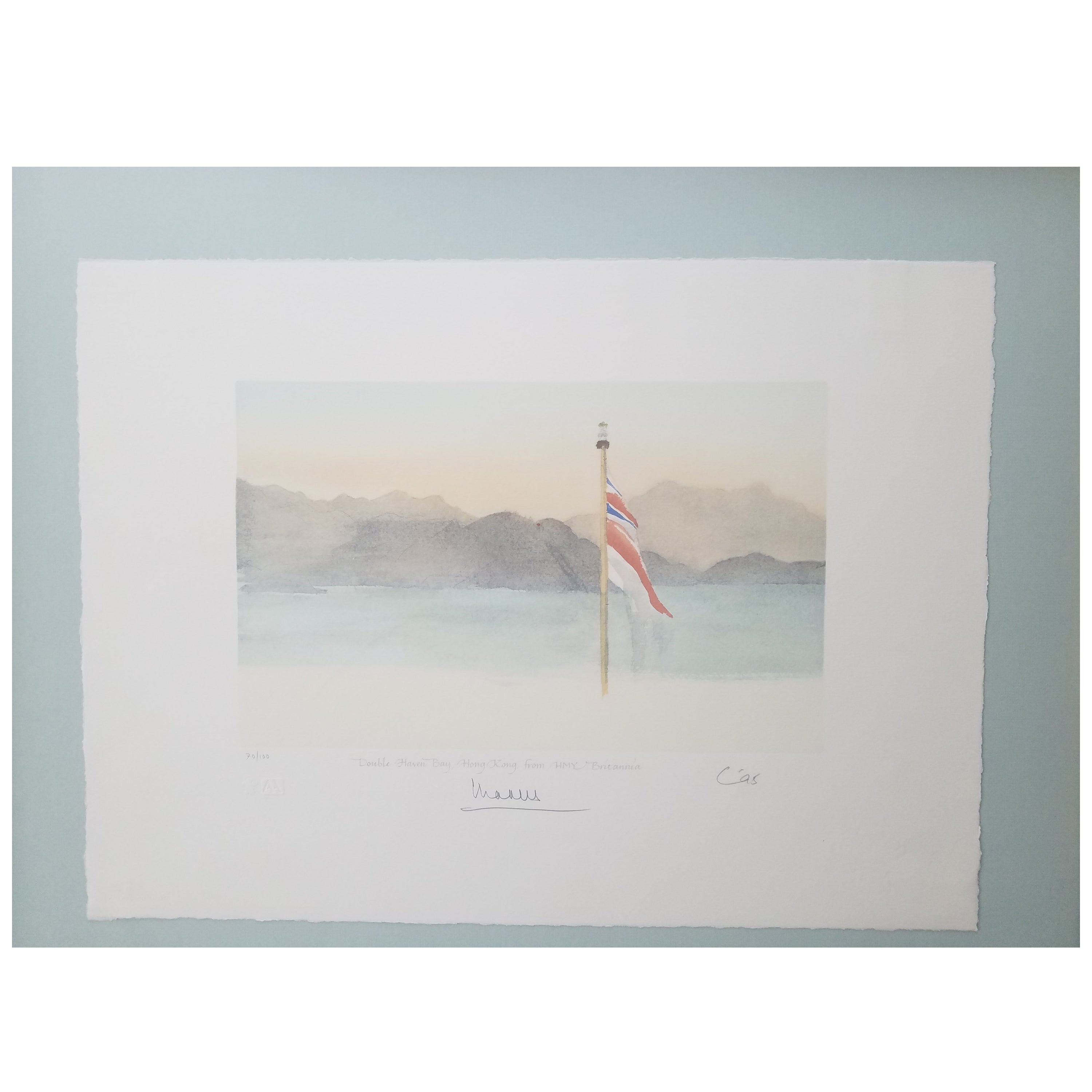 Signed Limited Edition Lithograph of Watercolor by Prince Charles