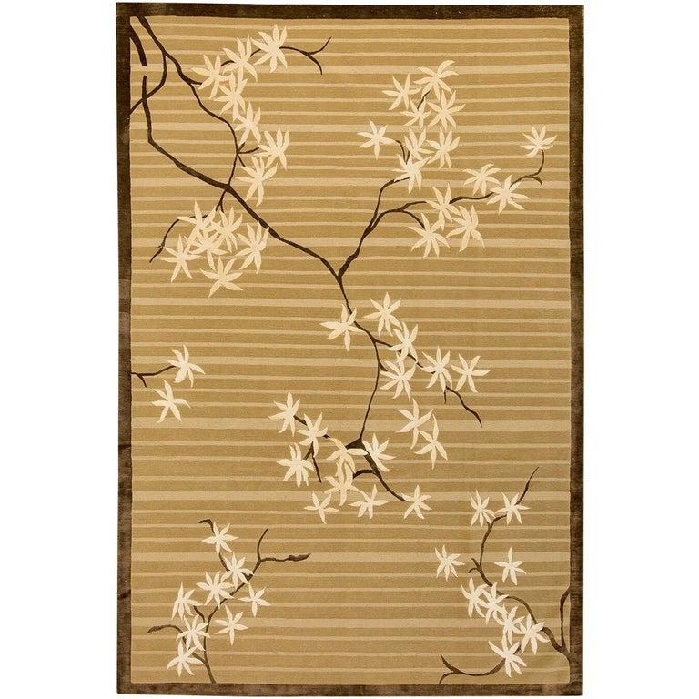 After Frank Lloyd Wright  200 x 300 cms Leaf Maple Wool and Silk Rug