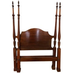 Pair of Twin Mahogany Four-Poster Beds