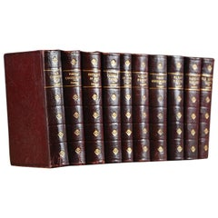 Collection of Ten Leather Bound Charles Dickens Novels