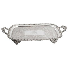 19th Century George III Old Sheffield Silver Plated Tray