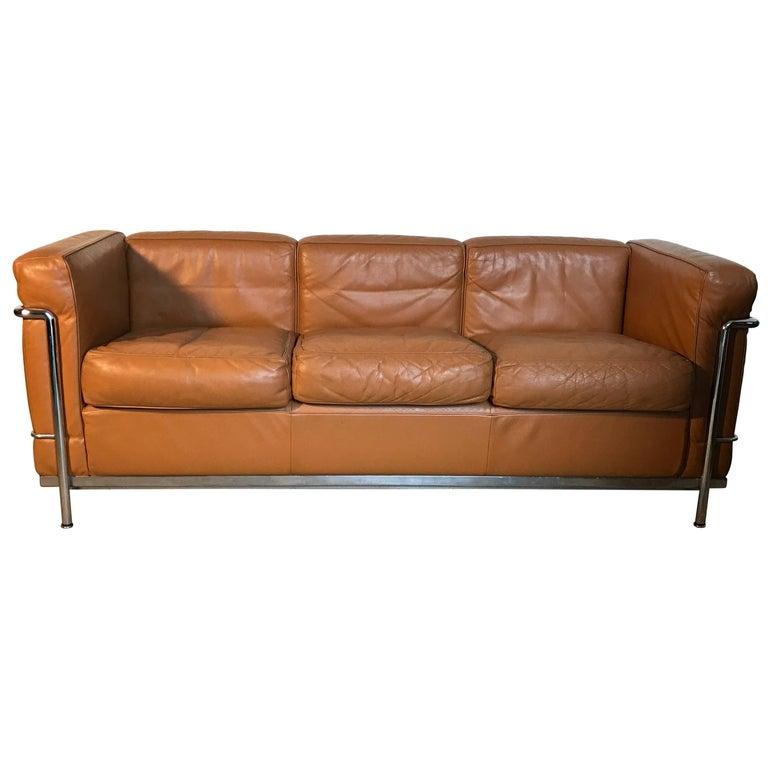 Le Corbusier Cassina LC2 Three Seats Sofa
