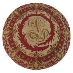 Late 19th Century Embroidered Footstool