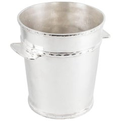 1930s Art Deco Silver Plate Ice Champagne Bucket Cooler