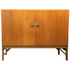 Two-Door Oak Cabinet with Adjustable Slides by Børge Mogensen for C.M. Madsen