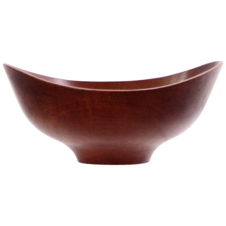 Unique Finn Juhl Teak Bowl for Kay Bojesen 1950s