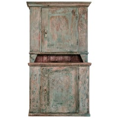 19th Century Painted Cabinet or Cupboard