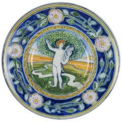 1900s Liberty Ceramic Dish by Galileo Chini