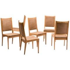 Set of Six Scandinavian Dining Chairs by Karl Erik Ekselius for JOC