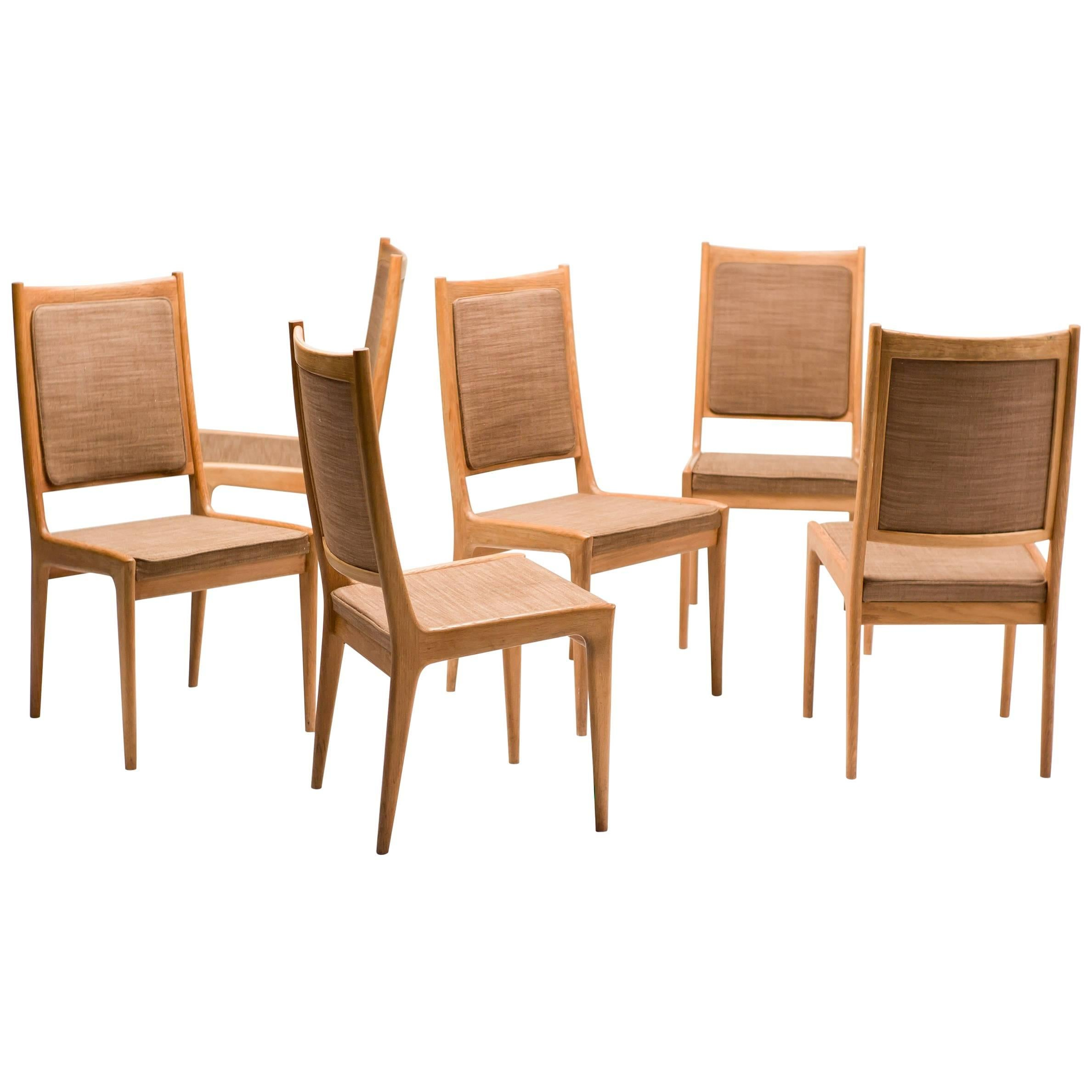 Set Of Six Scandinavian Dining Chairs By Karl Erik Ekselius For JOC For Sale