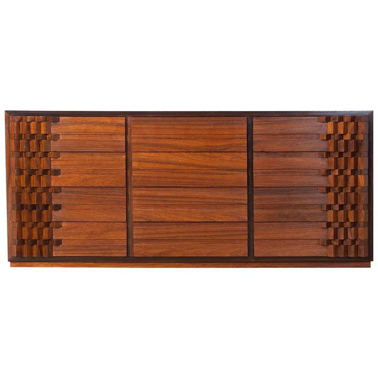 Luciano Frigerio Chest of Drawers in Walnut