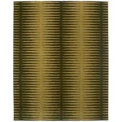 Angela Adams Spock, Olive Green Rug, Geometric, 100% Wool, Handcrafted, Modern