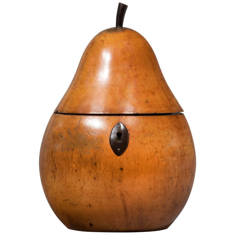 Antique Pear Fruit Tea Caddy