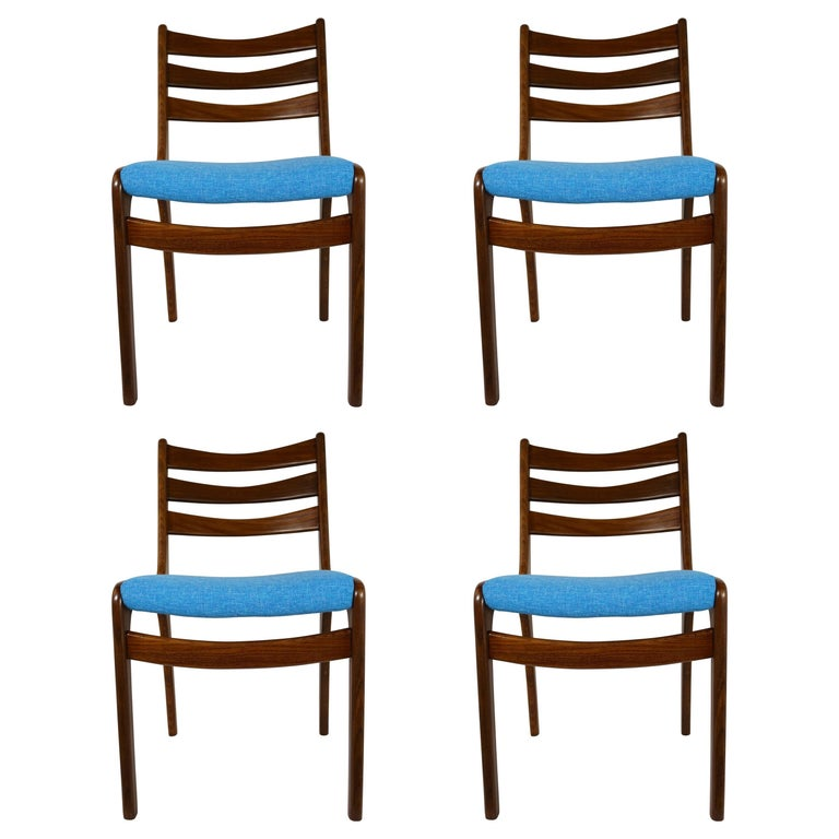 Set of Four Midcentury Dining Chairs