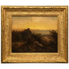 Landscape Painting by F. J. Dyck from 1898