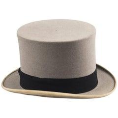 Antique Grey Felt Top Hat by Scott & Co, Early 20th Century