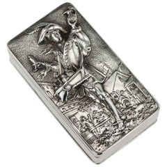 Antique Georgian Solid Silver Pedlar Snuff Box, John Linnit, circa 1820