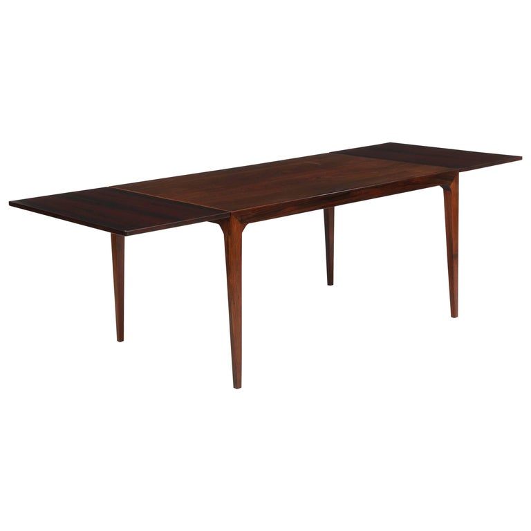 Kaj Winding Rosewood Dining Table, Denmark, 1960s