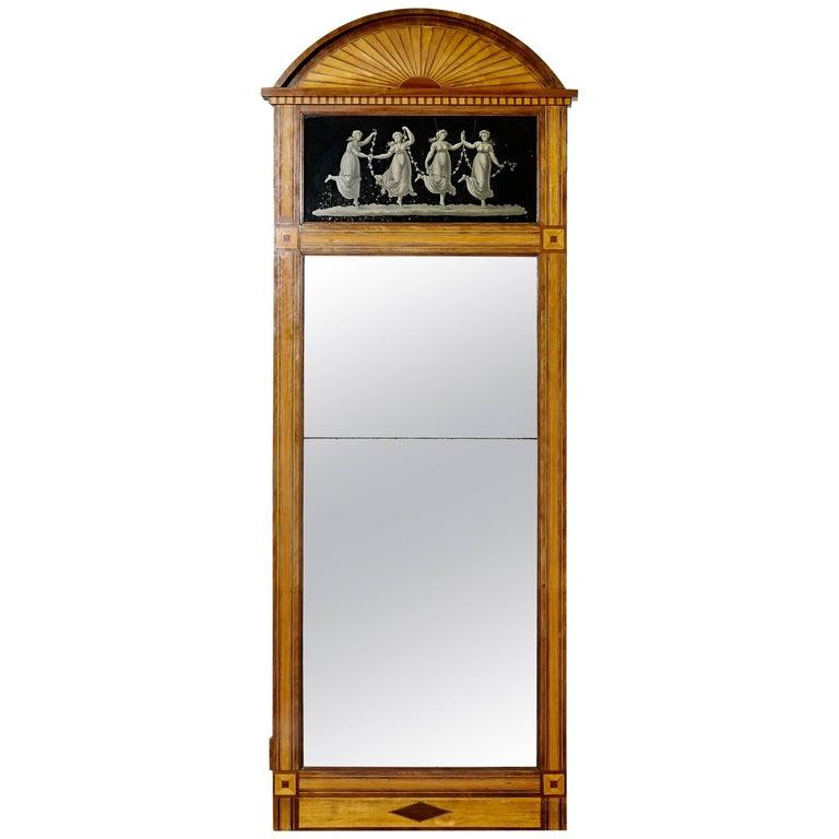 Danish Empire Mirror with Original Mirror Glass