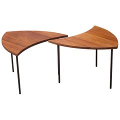 Peter Hvidt Segmented Teak Table Model 523 Set of Two