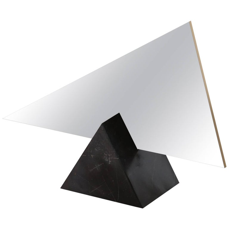 Ashkal Small Mirror 'Triangular Model' - Marble, Brass or Metal base. For Sale