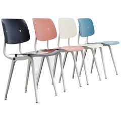 Friso Kramer Revolt Chairs for Ahrend de Cirkel 1953 Grey Colors