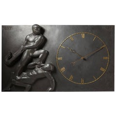 Monumental Wall Clock, Anonymous, Denmark, 1947