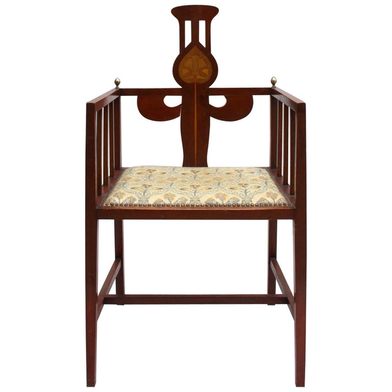 Fine Arts & Crafts Armchair by G M Ellwood, Made by J S Henry For Sale