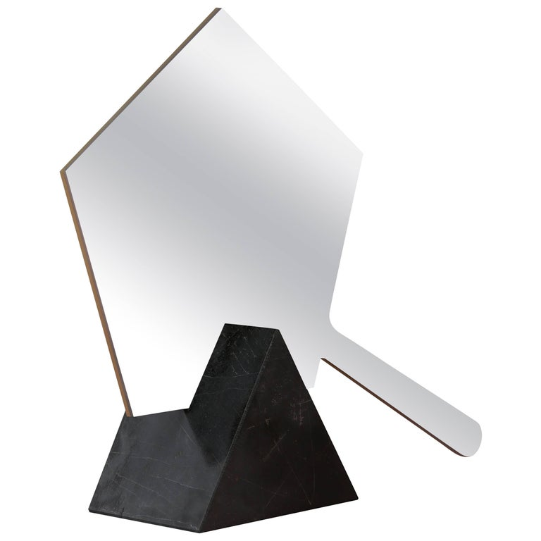 Ashkal Small Mirror 'Pentagonal Model' with Marble, Brass or Metal base For Sale