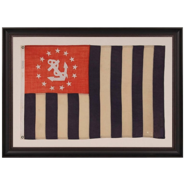 Power Squadrons Ensign, Made by Annin in New York City For Sale