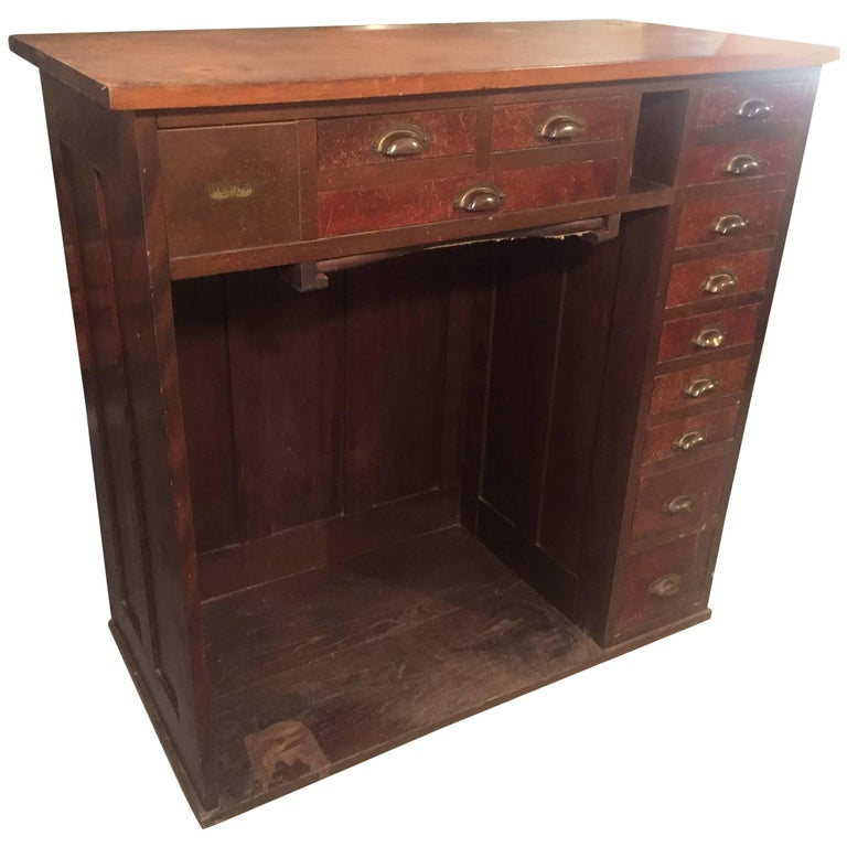Industrial Multi Drawer Cabinet Jewellers Desk