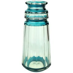 Turquoise Art Deco Val Saint Lambert Vase by Charles Graffart
