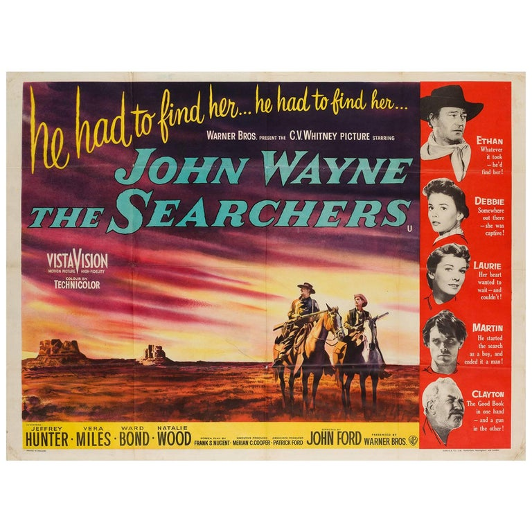 The Searchers UK Film Poster, 1956