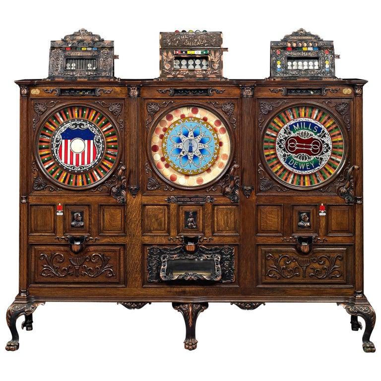 Mills Dewey-Chicago Triplet Slot Machine