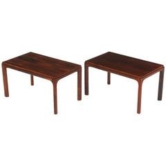 Pair of Kai Kristiansen Rectangular Side Tables, Denmark, 1960s