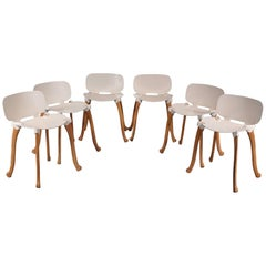 Set of Six Axe Chairs by Floris Schoonderbeek for Studio Weltevree, Netherlands