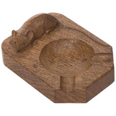 Robert Mouseman Thompson Oak Ashtray
