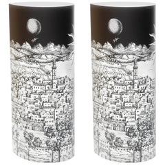 "Pair of Perspex Table Lamps ""Gerusalem"" by Barnaba Fornasetti, Italy, 1995"