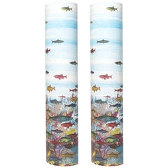 "Pair of Perspex Lamps ""Aquario Medio"" by Barnaba Fornasetti, Italy, 1995"