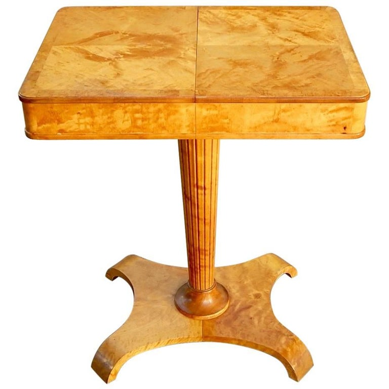 Swedish Art Moderne Side Table-Sewing Table-Axel Larsson for Bodafors, 1940s
