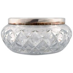 Crystal Bowl with Silver Border, 1930s-1940s