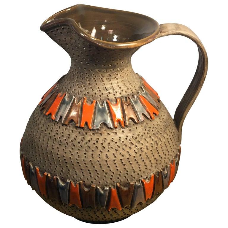 Italian Mid Century Pottery Pitcher